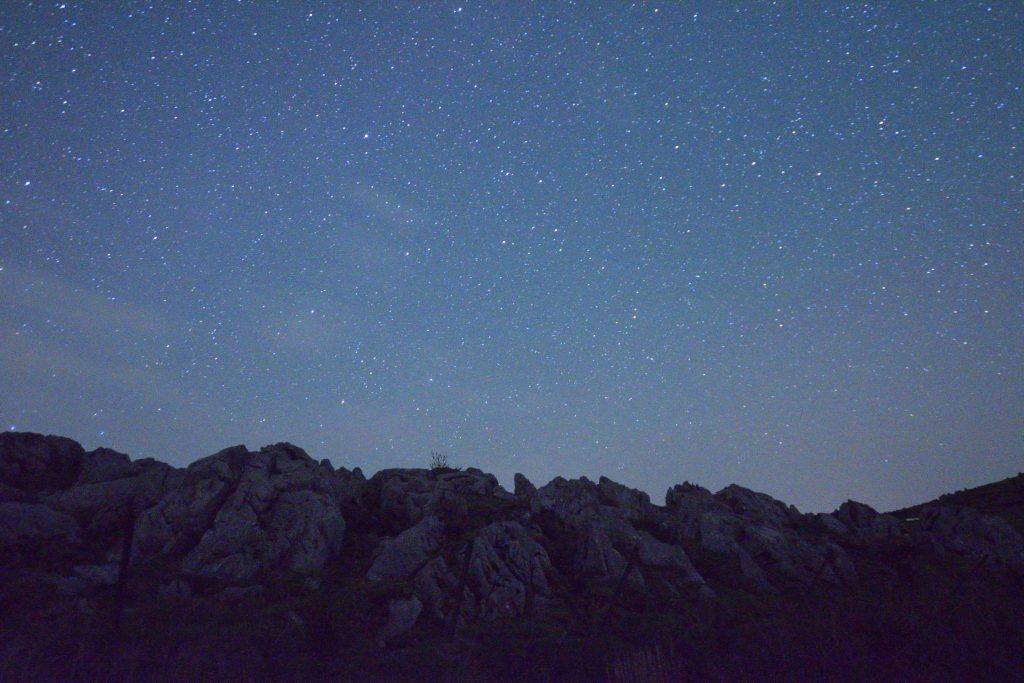 姫鶴平から見た南の星空