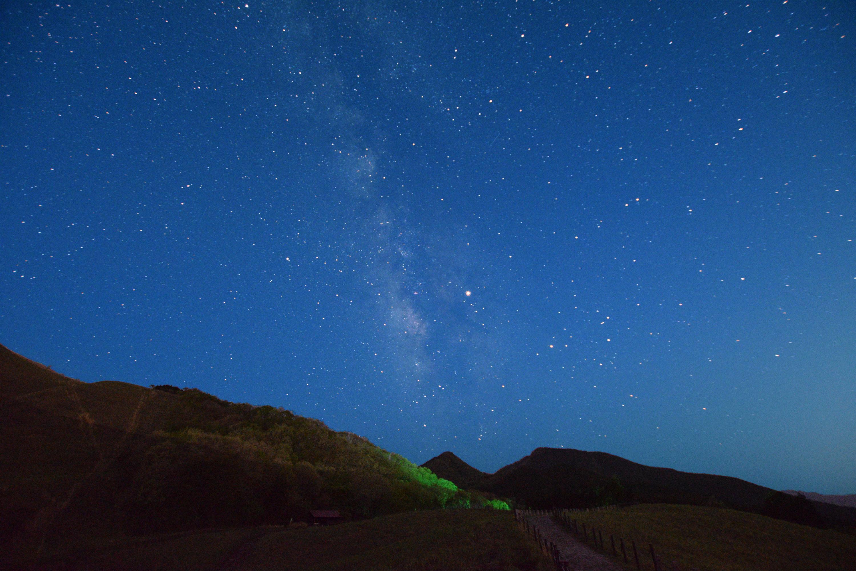 曽爾高原 さそり座と木星と天の川
