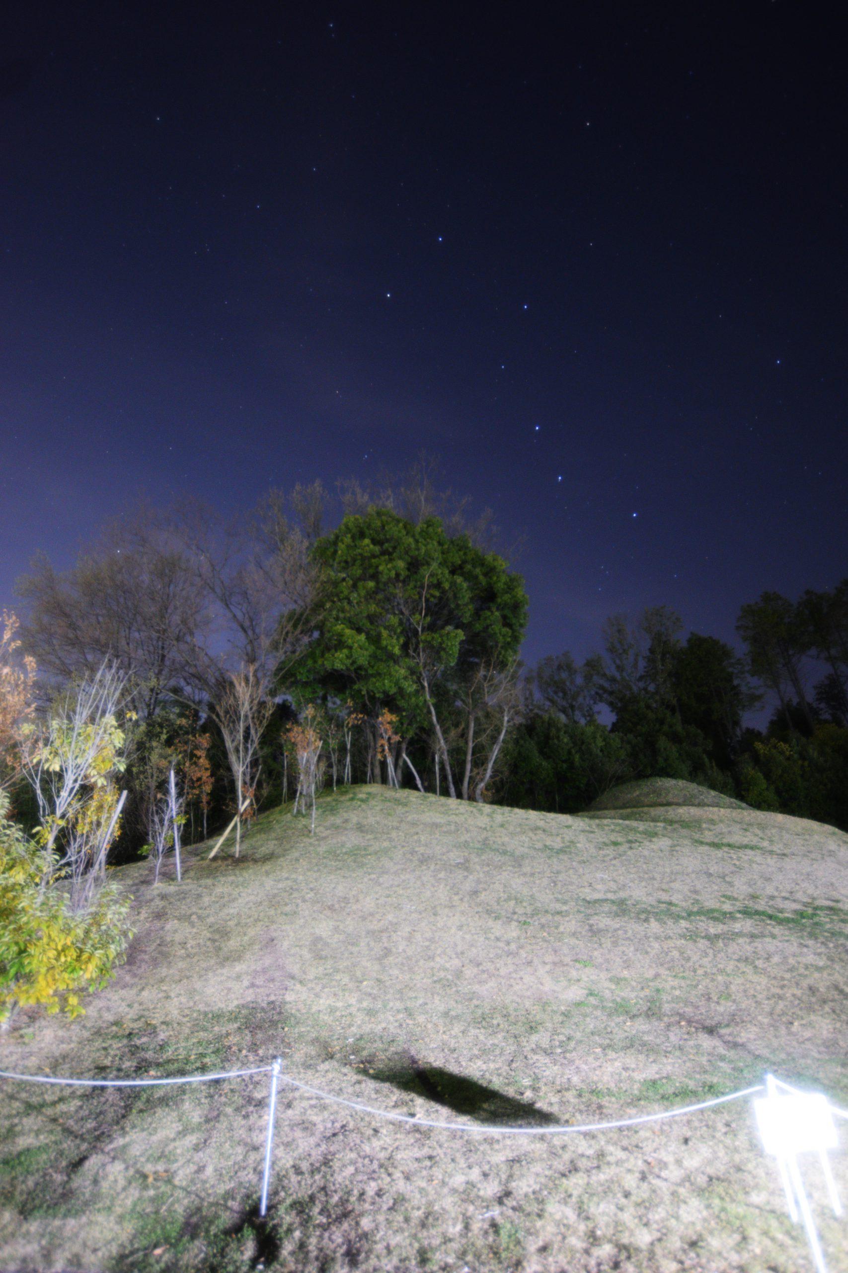 キトラ古墳上空に輝く北斗七星