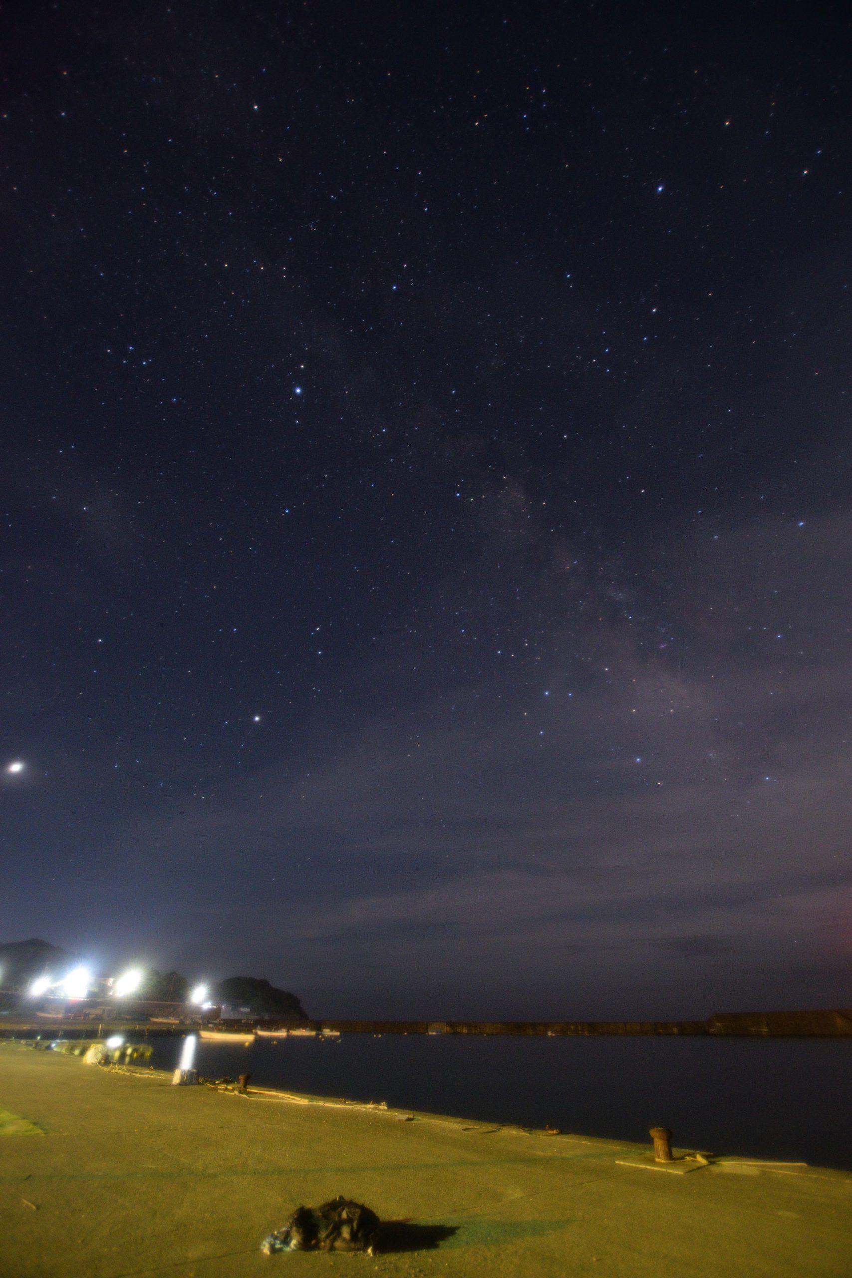 片田漁港からの天の川
