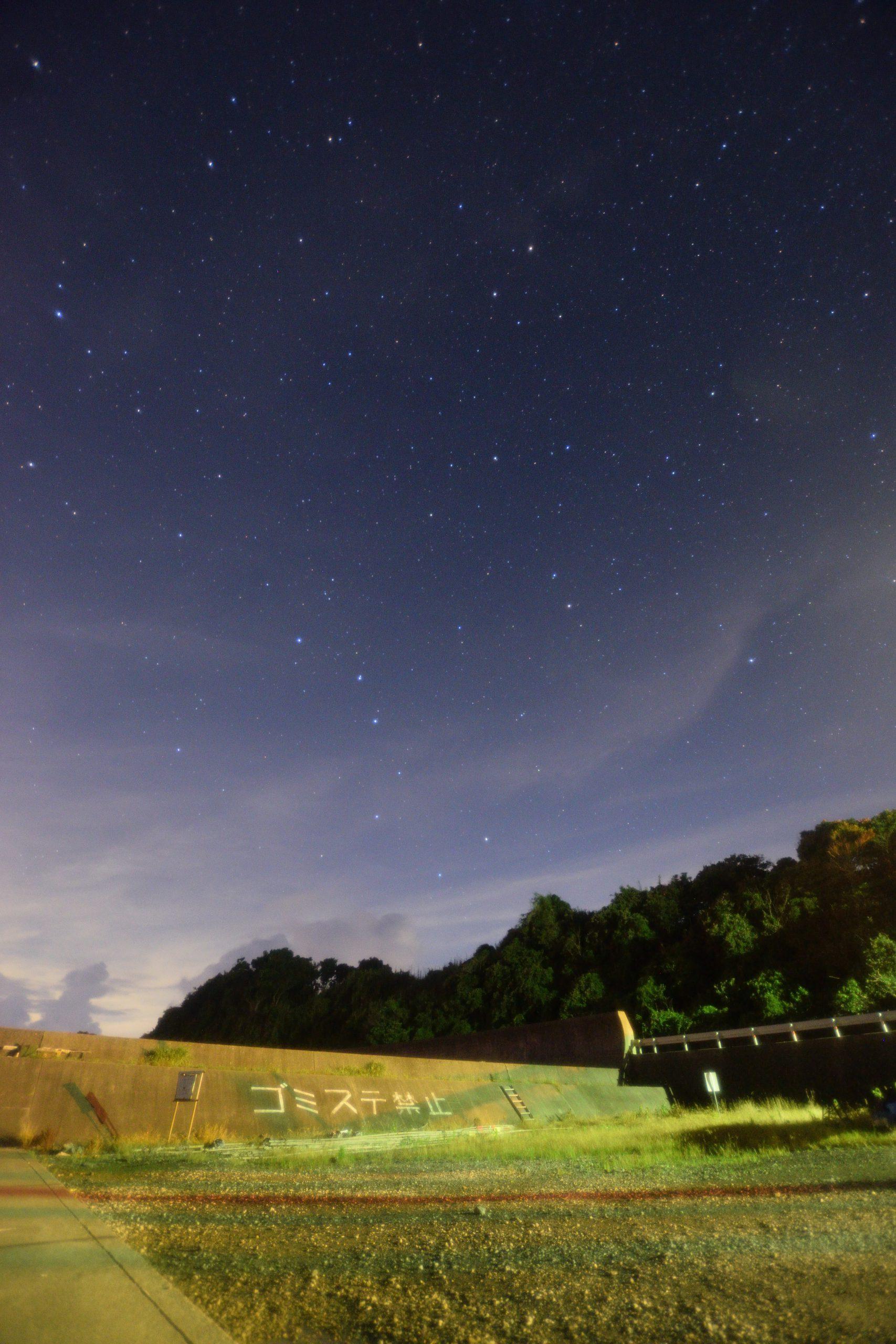 片田漁港からの北の星空