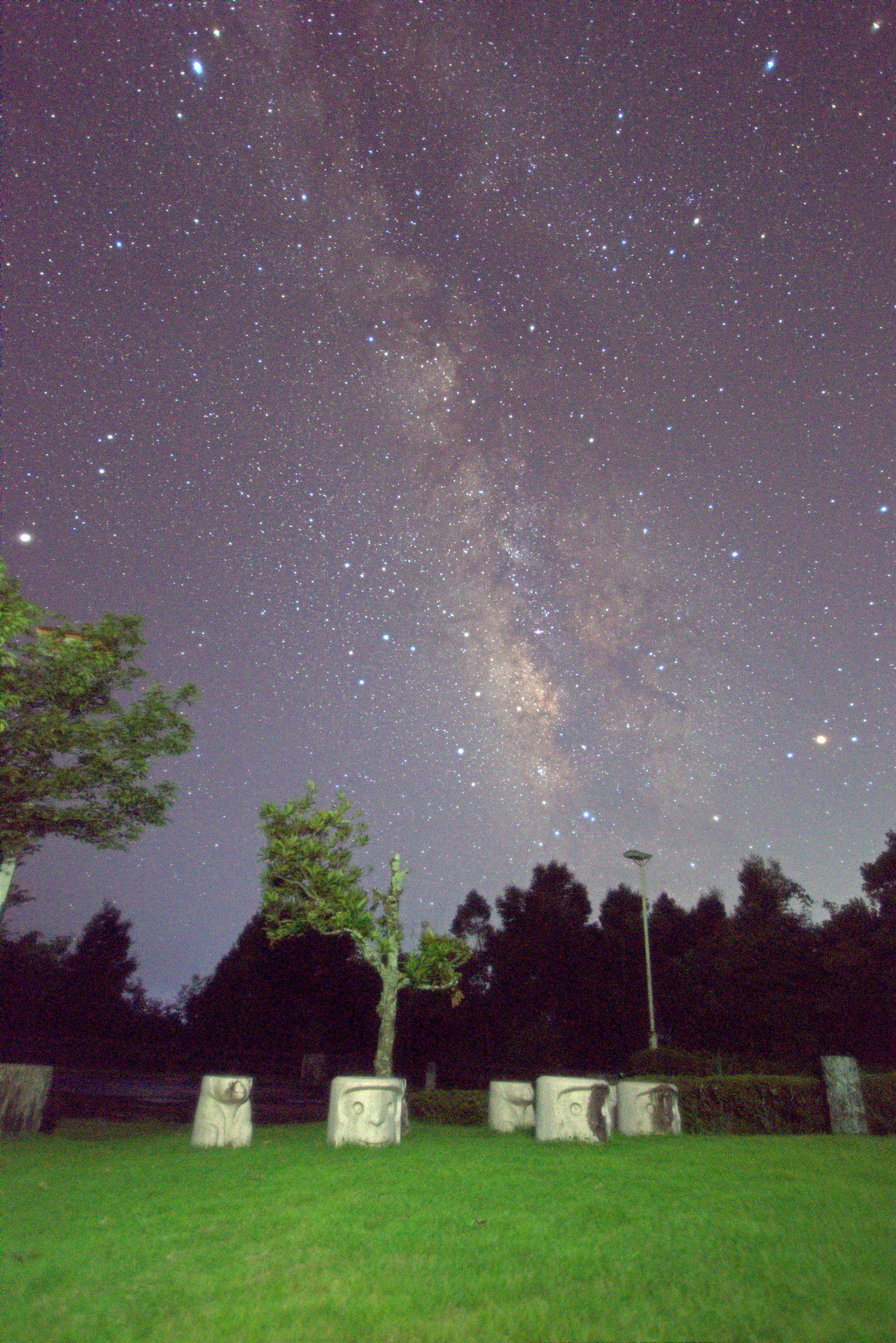 高塚山展望台から望む南の天の川